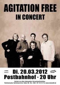 Agitation Free Plakat Berlin